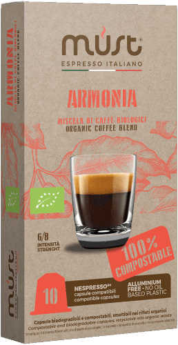 Armonia Certified Organic coffee capsules for Nespresso
